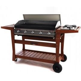 Barbecue Dolcevita Euro 5 con Carrello in Faggio Standard a gas