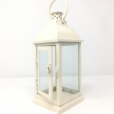 Lanterna Quadrata Metallo Piccola cm 27 H