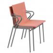 horizon sedia con braccioli impilabile