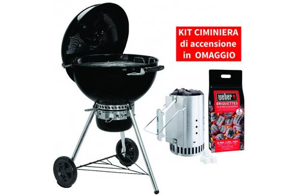 Barbecue a carbone Master-Touch GBS E-5750 - 57 cm con KIT CIMINIERA IN OMAGGIO
