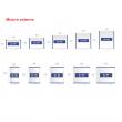 Casetta Highline Misure H2 con Porta Standard cm 275 L x 195 P x 222 H