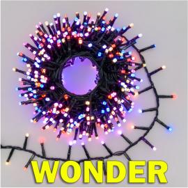 LUCI WONDER 500 LED 10 METRI CON 6 COLORI DIVERSI E TELECOMANDO, ESTERNO INTERNO, GIOCHI DI LUCE, E TIMER. CATENA SUPERLUMINOSA