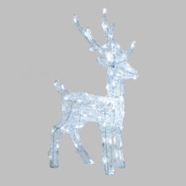 RENNA 3D CM 65 H CON 80 LED DA ESTERNO INTERNO, LUCE FISSA, TIMER DECORAZIONE LUMINOSA