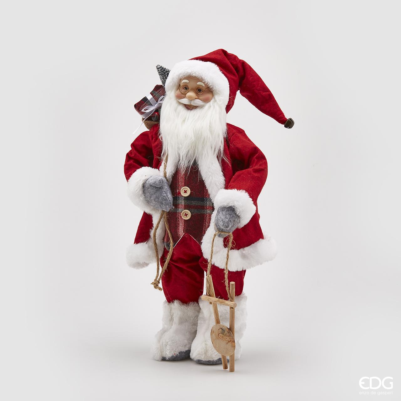 Abitazione Di Babbo Natale.Babbo Natale Cm 61h Con Decoro In Legno Cits Shop