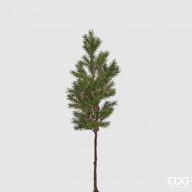 Ramo di pino glitterato 3D con pigna cm 84 h