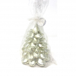 candela albero argento metallico diam. 12 x 15 cm