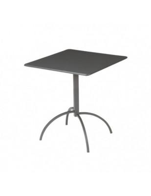 Tavolo Segno Quadrato 70 x 70 cm Pieghevole
