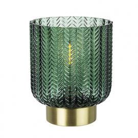 LAMPADA DA TAVOLO DELHI ORO-VERDE LED CM 13 H