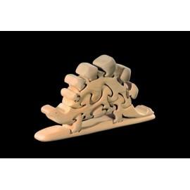 PUZZLE 3D DINOSAURO in legno intagliato