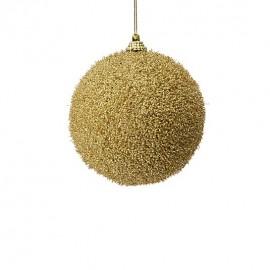 sfera 10 cm oro con glitter