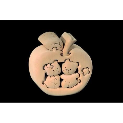 PUZZLE 3D ORSACCHIOTTI MELATI in legno intagliato