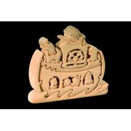PUZZLE 3D ARCA DI NOE in legno intagliato