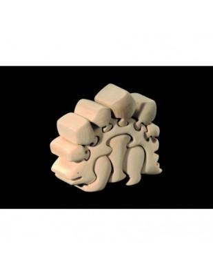 PUZZLE 3D  DINOSAURO 2 in legno intagliato