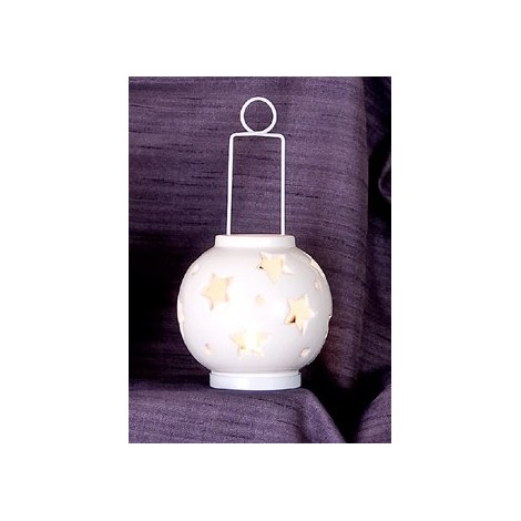 LANTERNA BALL PICCOLA WHITE STAR cm  ø 10 x 23 h