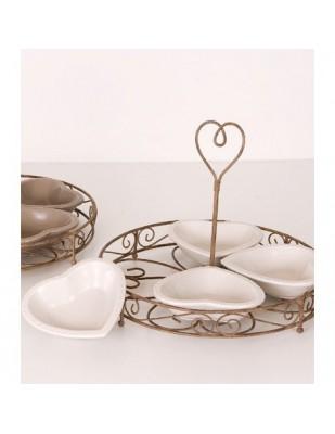 Ciotole Romantique Set da 4 Pz Bianco