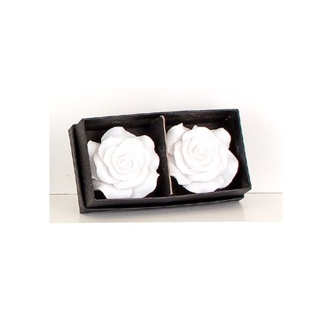 Candele Rose Lux White Set 2 Pz