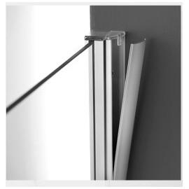 Porta Doccia a Battente per Nicchia Claire 5100 Design 67 - 71 cm Cristallo 6 Mm
