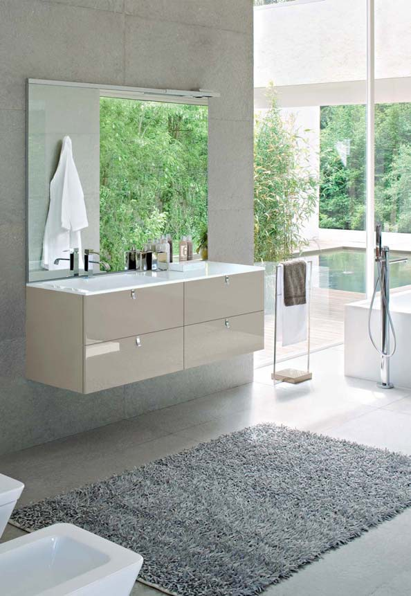 My fly evo composizione mfe07 140 x 50 cm cits shop for Mobili bagno 140 cm