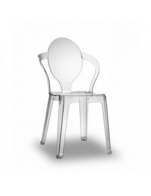SPOON sedia Design policarbonato trasparente