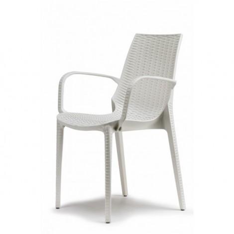 LUCREZIA sedia con braccioli in polipropilene