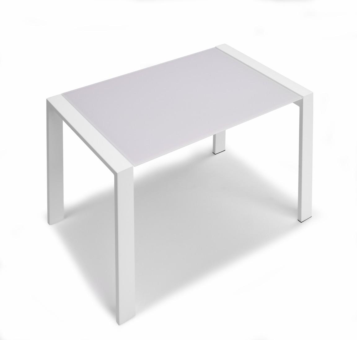 Tavolo Vetro Allungabile 110.Zoom Tavolo Allungabile In Cristallo E Acciaio Cm 70 X 110 50 X H