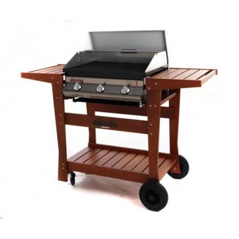 Barbecue Dolcevita Euro 3 con Carrello Standard Legno di Faggio a gas