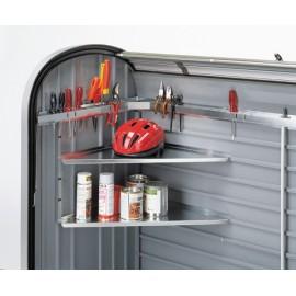 Accessori per Maxi Baule a Serranda Storemax 120 e 160 : Set Scaffali Angolari