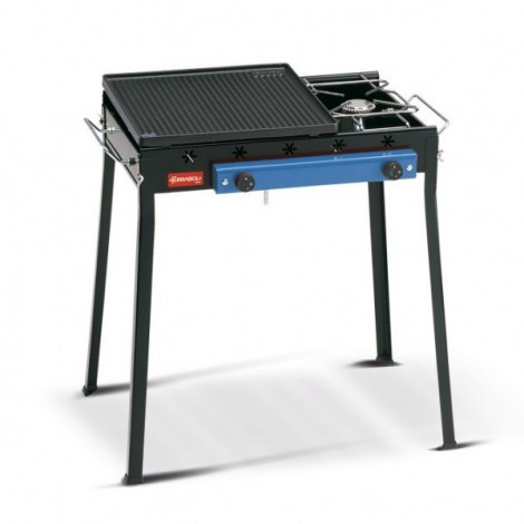 Barbecue Ghisa a Gas Combinato Cm58x38