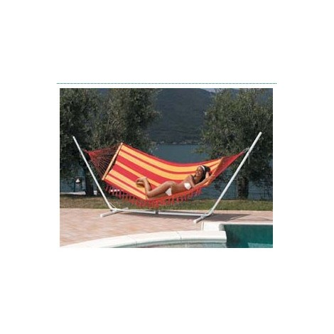 Amaca Cotone Giallo/rossa Cm.100x340
