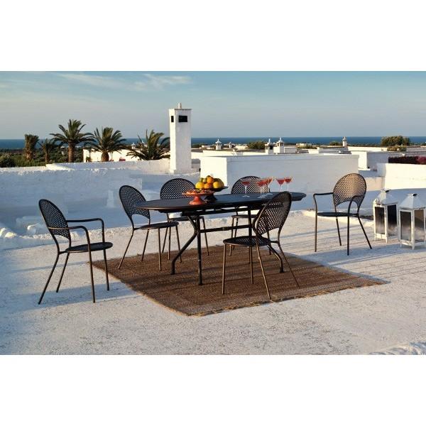 Tavolo piano ovale emu allungabile cits shop for Emu tavoli da giardino