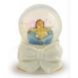 Palla Acqua / Neve Base Porcellana ø 4,5x7 H Gesù Bambino