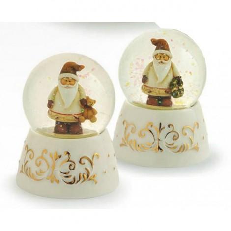 Palla Acqua / Neve Base Porcellana ø 4,5 x 7 Babbo Natale