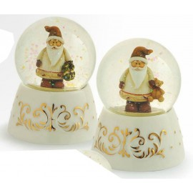 Palla Acqua / Neve Porcellana ø 6,5 x 10 Babbo Natale