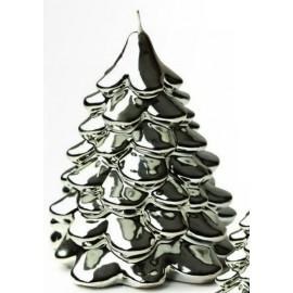 candela albero argento metallica  diam. 8 x 9 cm