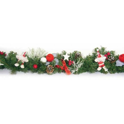 Kosmos Linea Bianco-rosso con Babbi Natale Lung. Cm. 180