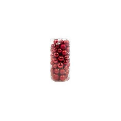 MAXI CILINDRO 100 SFERE DIAMETRI ASSORTITI rosso, met-mat-glitter
