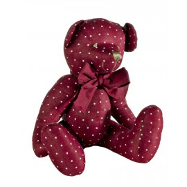 Pupazzo Teddy Bear Coccola  Rosso Pois   Large