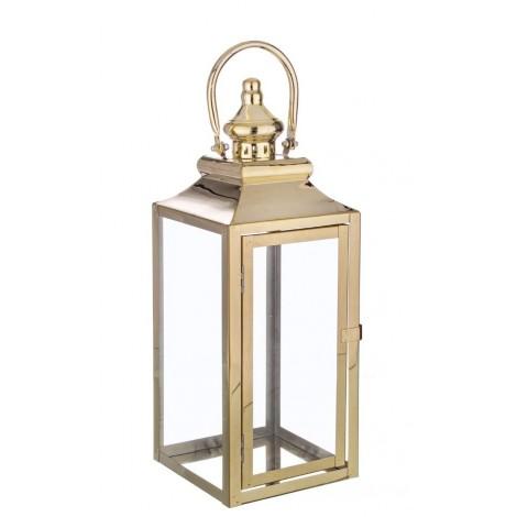 Lanterna c manico dorata s mis 17 5x16 5x45h cits shop for Lanterne arredo