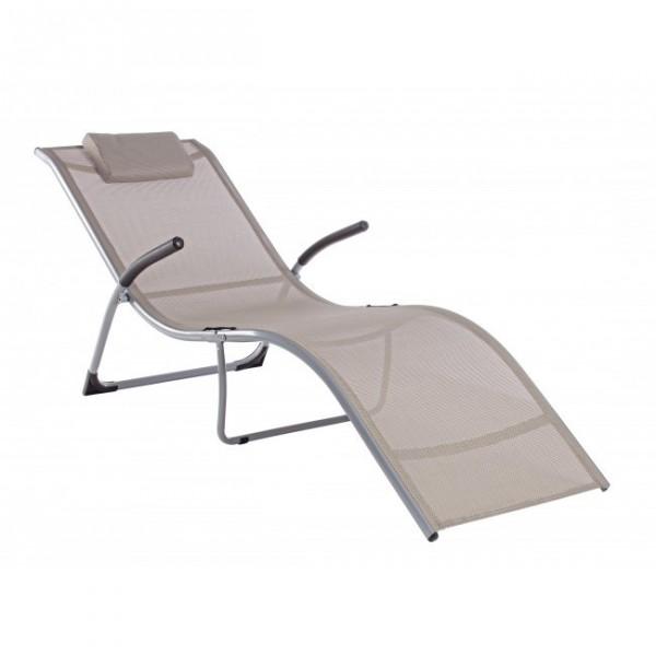 Chaise longue con braccioli scott pieghevole cits shop - Chaise longue giardino ...