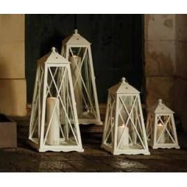 Lanterna Abete Bianco Portacero Piccola cm 50