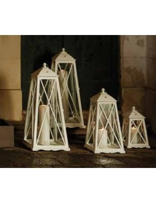 Lanterna Abete Bianco Portacero Piccola cm 50 Cm