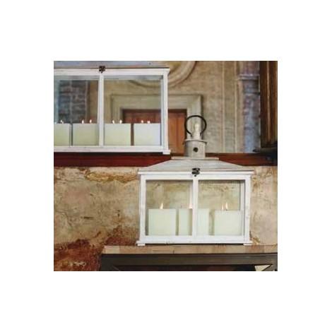 Lanterna Abete Bianco Media H 47 Cm
