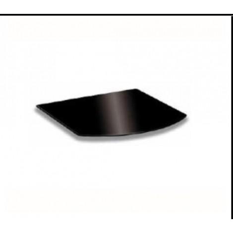 Pedana piccola in vetro nero misura 55x70