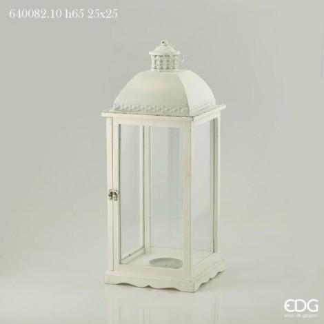Lanterna Cedar C/ferro H65 25x25 bianca