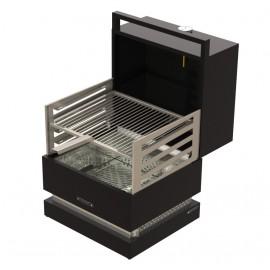barbecue a carbone GRILL PORTATILE FORNO 450 con cappa forno