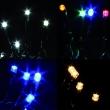 Minilucciole a 400  Led  vari colori  per Esterno / Interno con Motorino 8 Giochi Luce