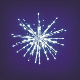 TWIG BALL ARGENTO 80 LED BIANCO gioco di luce flash diamond ramo stella