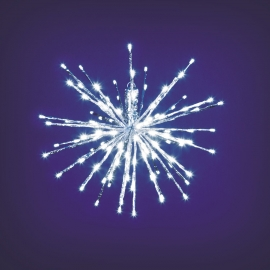 TWIG BALL ARGENTO 80 LED BIANCO gioco di luce flash diamond