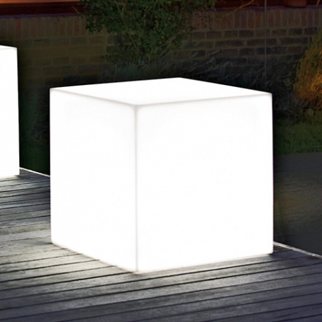 Sgabello Cubo Light cm 40 x 40 x 40 H Resina