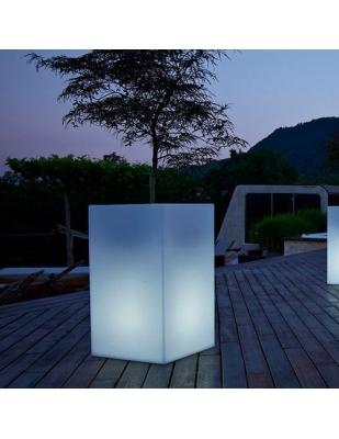 Vaso Kube High Light cm 30 x 30 x 70 H Resina